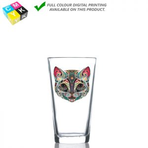 0124 Mixing Glass 11oz Digital Printing