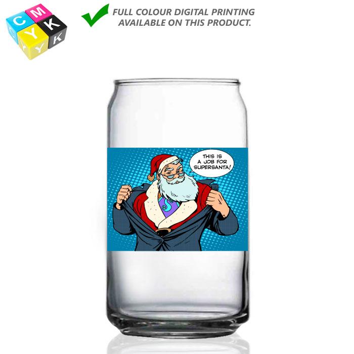 209 Can Glass 16oz Digital Printing