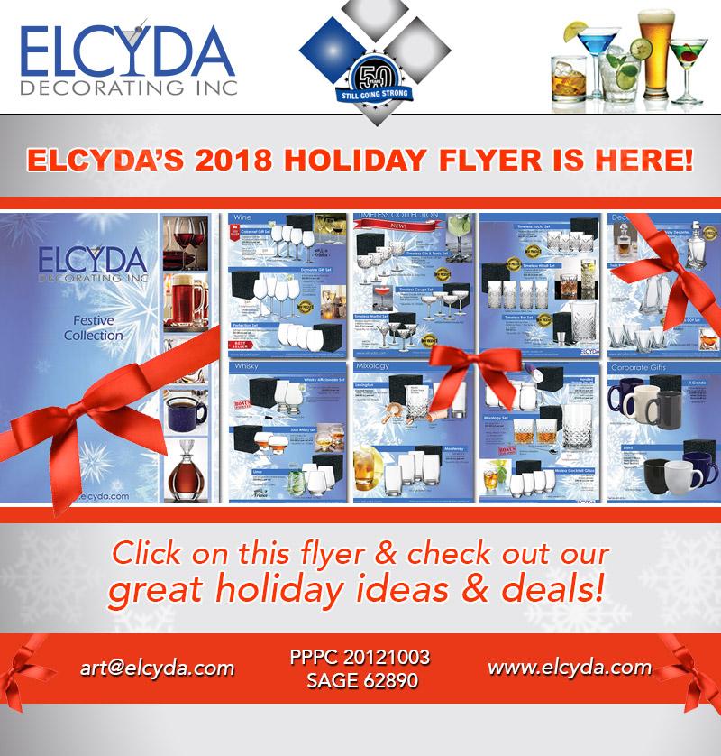 Elcyda Holiday Sales Flyer 2018
