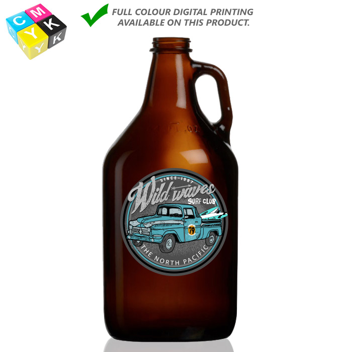 Grow Amb 64 Amber Growler_64oz Digital Printing