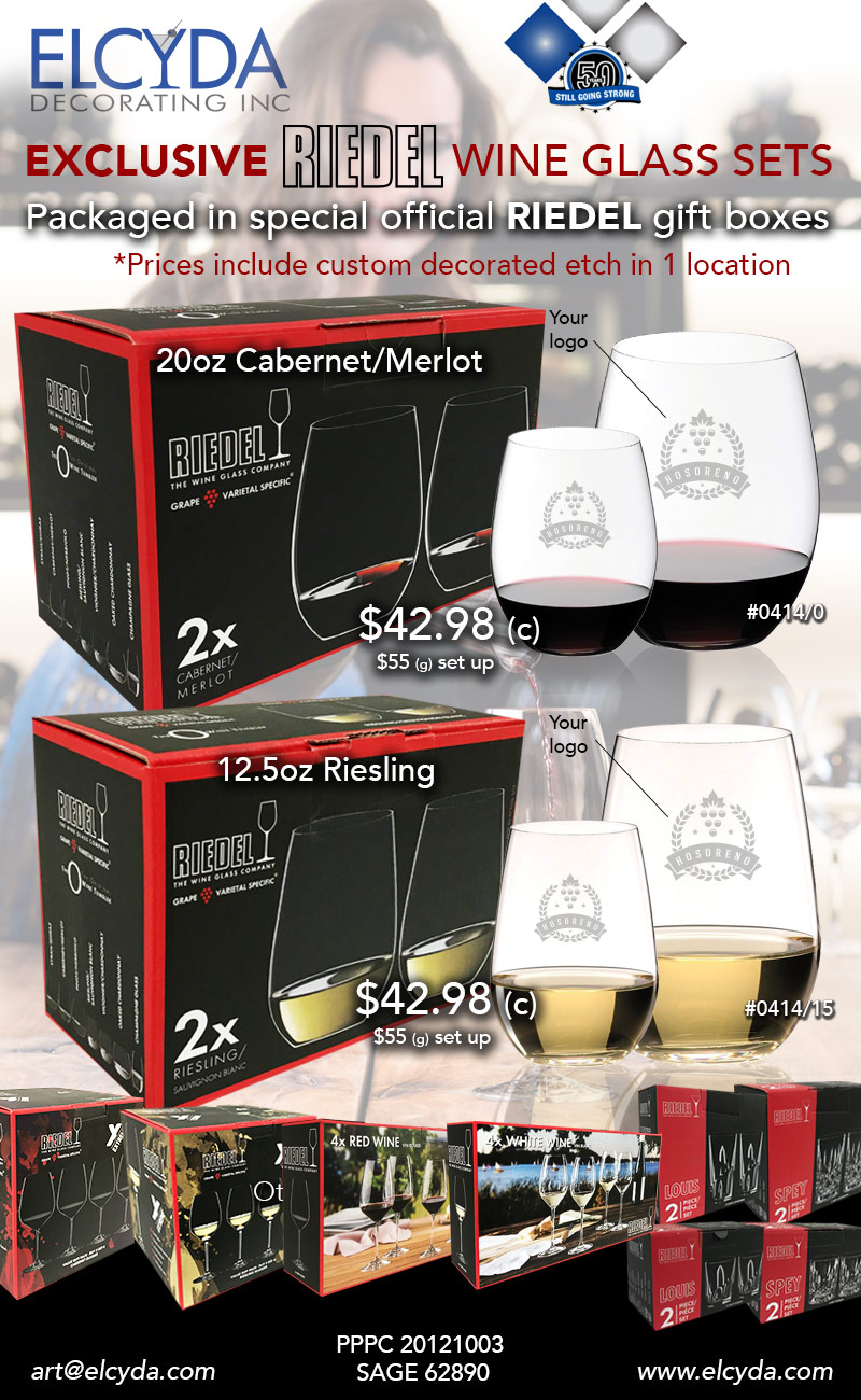Riedel Glass box sets!